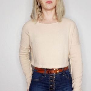 Anama Blush Pink Cropped Light Weight Sweater XS